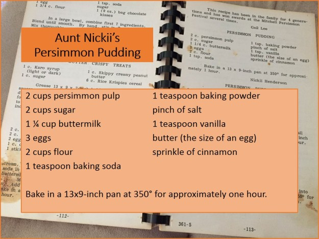 Aunt Nickii's Persimmon Pudding
