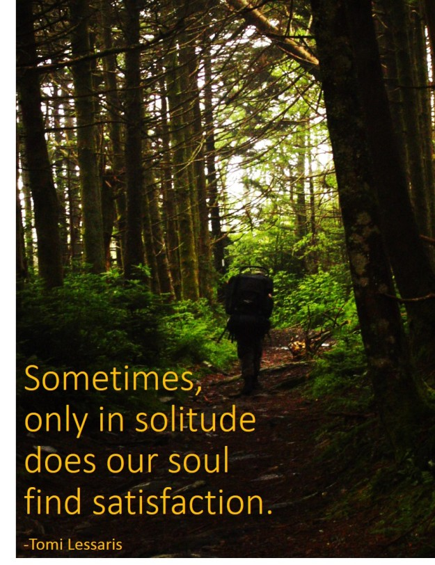 Satisfaction in solitude