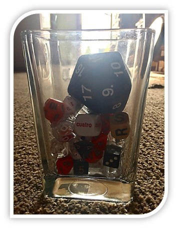 Roll of the dice jar